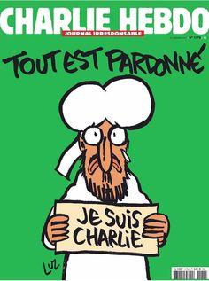 Charlie Hebdo lässt sich nicht unterkriegen. Das neue Titelblatt zeigt wieder eine Mohammed-Karikatur.