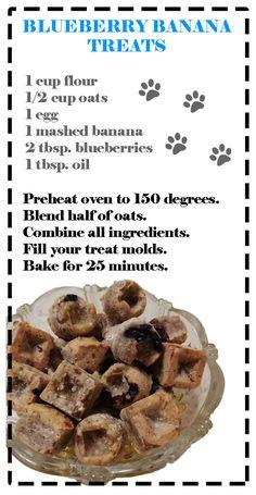 Blueberry Banana Dog Treats Dog Treats, Blueberry, Pup, Banana, Molde, Berry, Blueberries, Puppies, Bananas
