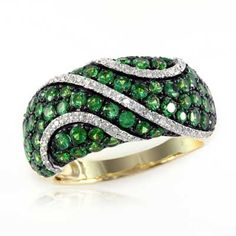 EFFY™ Collection | Tsavorite and 1/5 CT. T.W. Diamond Ring