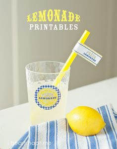 Free lemonade stand printables on iheartnaptime.com ...perfect for a summer party or lemonade stand!