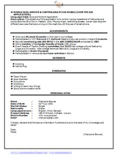 Best Fresher Computer Science Student Resume Sample | Sachin ...