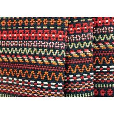 "Swedish Kilim Home Decorating Cotton Blend   A soft heavyweight cotton blend in a delightfully rustic woven crosswise striped kilim pattern in warm shades of red and orange, with sage, white, and black accents - perfect for over-sized throw pillows or even for upholstered furniture! Cotton, polyester, and rayon blend. 55"" wide. Yards:      Order Swatch  One yard minimum. Available in increments of 0.25 yards thereafter."