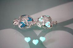 Locket HEART with Tiny Hearts GLOW in the DARK от Papillon9