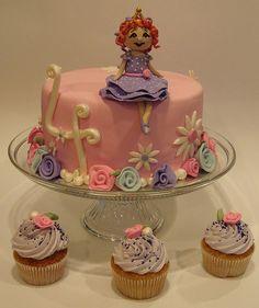 Fancy Nancy Cake & Cupcakes by cakezilla, via Flickr