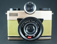 Fujipet Thunderbird  6X6 120 Vintage Toy Camera in YELLOW and GOLD!! SUPER RARE!