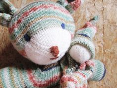 teddy & knubbelchen, aus  regia design line by arne & carlos, farbe 3761 iris - gestrickt by leekay.de