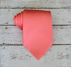 Hey, I found this really awesome Etsy listing at https://www.etsy.com/listing/182595867/coral-tie-groomsmen-coral-tie-coral-silk