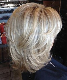 Pin on Another great hair cut! Pin on Another great hair cut! Medium Layered Hair, Medium Hair Cuts, Short Hair Cuts, Medium Hair Styles, Short Hair Styles, Medium Bobs, Blonde Layered Hair, Blonde Hair, Medium Shag Haircuts