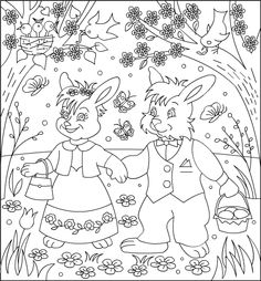 nicoles free coloring pages easter bunnies coloring page