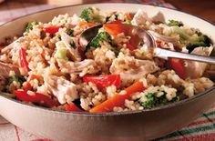 Turkey risotto - 150 family dinners under 500 calories 500 Calorie Dinners, Dinners Under 500 Calories, Low Calorie Recipes, Diet Recipes, Cooking Recipes, Healthy Recipes, Healthy Meals, Recipies, Diet Meals