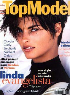 ELLE TOP MODEL - ISSUE 6   Cover Supermodel: Linda Evangelista