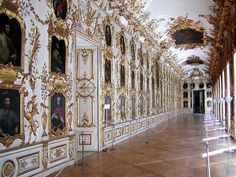 The Baroque Ancestral Gallery of the Residenz in Munich. My new palace.... <3