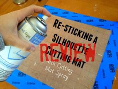 Resticking Silhouette Mat: Cutting Mat Spray Adhesive Review ~ Silhouette School