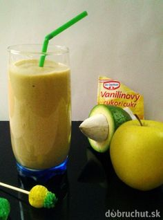 Jablkové smoothie s avokádom Cantaloupe, Smoothies, Detox, Beverages, Health Fitness, Ice Cream, Pudding, Fresh, Desserts