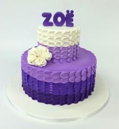 Shades of purple buttercream