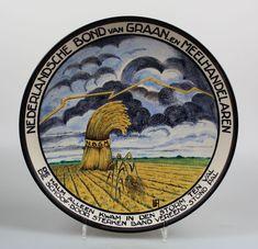 Plateelbakkerij Schoonhoven plate 1930's Tableware, Art, Art Background, Dinnerware, Dishes, Kunst, Gcse Art, Art Education Resources, Artworks