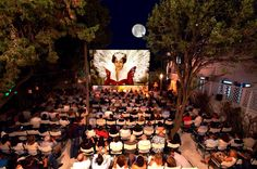 Cine Manto Mykonos Outdoor Cinema, Mykonos Island, Under The Stars, Athens, Oasis, Greece, Table Decorations, Film, Garden
