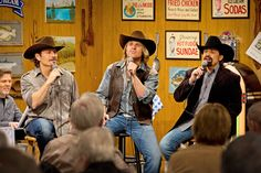 """The Texas Tenors perform on RFD-TV's """"Larry's Country Diner."""""""