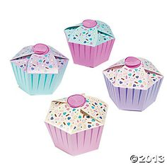 First Birthday Cupcake Favor Boxes - Oriental Trading