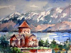 Van.Turkey Akdamar Adasy (Watercolor) Watercolors, Turkey, Van, Painting, Paintings, October, Peru, Watercolor Paintings, Vans