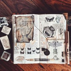 """Polubienia: 1,488, komentarze: 47 – Tina (@pastelpaperplane) na Instagramie: """"• On days like this I am thankful for the creative outlet in my art journal. When thoughts crawl…"""""""