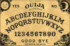 Ouija Boards and Demonic Oppression By Fr. John Hollowell, On This Rock: I spoke with a young man who was battling authentic demonic oppression for over twenty years after being in a room where a Ouija Board Table Ouija, La Danse Macabre, Black Magic, Halloween Decorations, Halloween Ideas, Halloween Party, Happy Halloween, Halloween Horror, Vintage Halloween