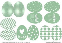 Free easter printable by EverythingElze