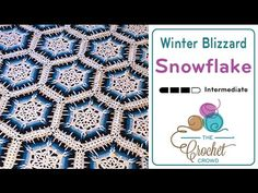 Learn to crochet this amazing snowflake afghan called the Winter Blizzard Afghan. Designed by Daniel Zondervan. This is a free pattern and this tutorial cove...
