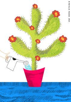 A recent Cactus doodle  www.nataliehughes.co.uk