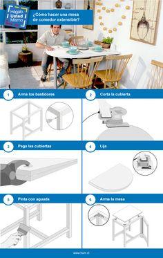 Aprovecha mejor tus espacios con esta mesa de cubierta abatible