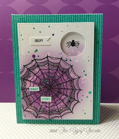 The Gypsy Chic: CTMH~Silly Spider Web card
