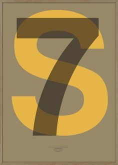 """""""Letter and Number - S7""""  Printed on 130g coated satin paper.  Pantone colors.  SIZE 500 x 700 mm. © 2013 typoLIFE"""