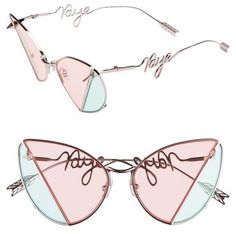 Fashion Accessories | GENTLE MONSTER x Kye Hate 58mm Cat Eye Sunglasses | pastel pink and blue sunglasses @monstylepin