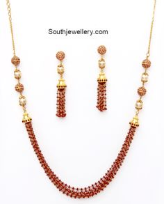 Ruby Beads Necklace Set