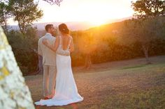 Chris and Rebecca....their first sunset as husband and wife! Photo by Patrick Vinchi