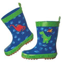 Kalosze dla dzieci z dinozaurami będą idealne na #jesienne przygody Dino, Stephen Joseph