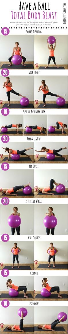 Have a Ball with this Total Body Stability Ball Workout!| healthy recipe ideas @xhealthyrecipex |