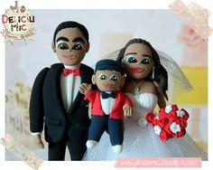 Deliciu Mic - Figurine de tort nunta mire si mireasa Bijuterii Handmade si Accesorii Handmade: CUTE - Figurine de tort pentru nunta - Mire s... Elf On The Shelf, Cool Stuff, Holiday Decor