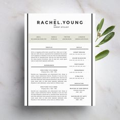 Modern Resume Template and Cover Letter Template for Word | DIY Printable Resume 4 Pack | The Rachel | Professional and Creative Design