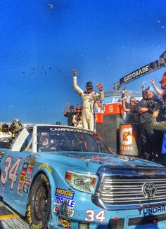 Bubba Wallace Jr wins Martinsville NCWTS race..October 25, 2014