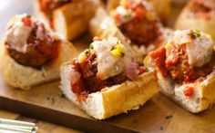 Mario Batali's Turkey Meatball Parm Subs and Michael's Super Bowl snacks