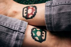 Fuck Yeah, Tattoos! — Those were my first tattoos, I love Mario Bros and...