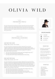 5 Page Resume Template Ultra Chic Modele Cv Curriculum Vitae Lettre De Motivation
