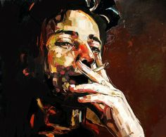 "Artist Anna Bocek; Painting, ""from series of dark room"" #art"