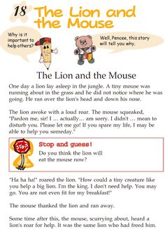 Grade 2 Reading Lesson 18 Fables And Folktales – The Lion And The Mouse
