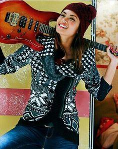 Desigual Susana, 48J2125, zipper fastening, black and white knitted jumper