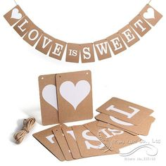 Encontrar Más Artículos de Fiesta Información acerca de 2015 Hot Vintage el amor es dulce Banner de boda apoyo de la foto nupcial decoración del partido caliente papel Kraft papel Wedding Party Bunting Banner decoración, alta calidad papel moneda, China favores de la boda de papel Proveedores, barato la boda wang de Yiwu Kuini Fashion en Aliexpress.com