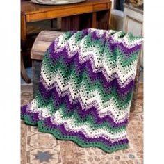 Woodland Waves Throw Easy Crochet Blanket Pattern
