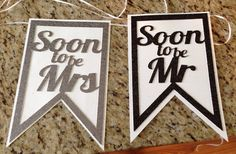 Mr and Mrs Chair Banners Engagement Soon to by paperandpartiesco