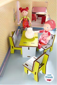 Little Friends – Puppenhaus-Möbel Esszimmer (Artikelnummer 300509)